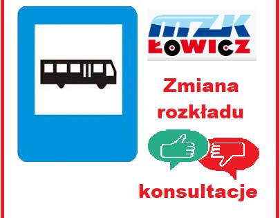 Aktualizacja rozkładu jazdy - konsultacje społeczne